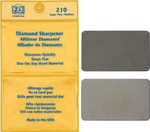 EZE-LAP 210 Credit Card Size Diamond Sharpening Stone Set SF M, Double pack includes super... by