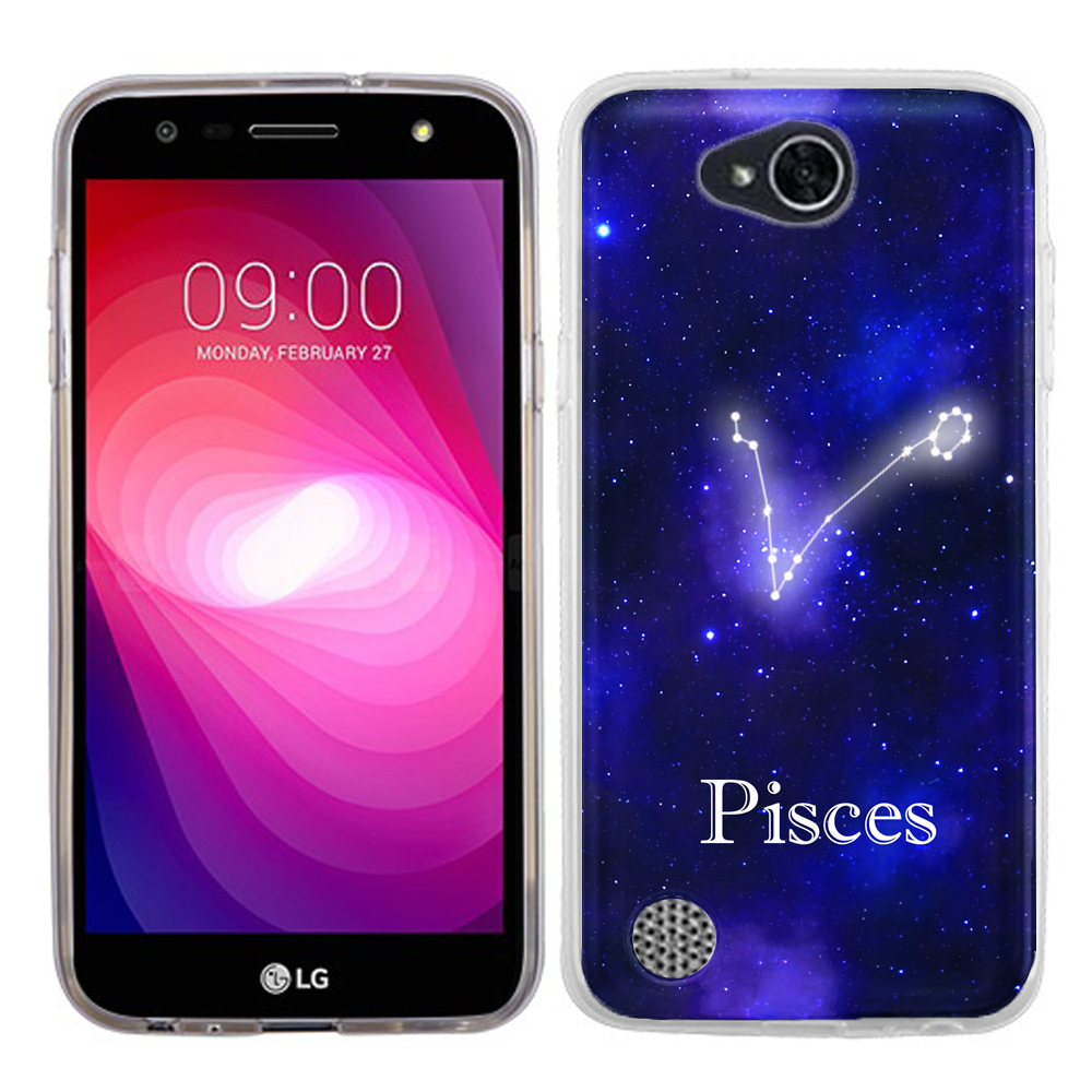 Slim Case for LG X Power 2 / LG Fiesta 4G LTE, OneToughShield ® Premium TPU Gel Phone Case - (Zodiac / Pisces)