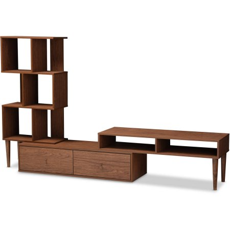 Baxton Studio Haversham Mid-century Retro Modern TV Stand Entertainment Center and Display Unit