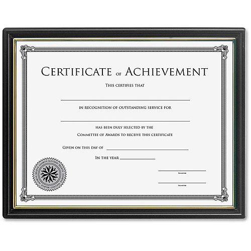 Lorell 8X10 Frame With Certificate Of Achievement - Walmart.Com