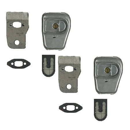 Poulan Craftsman Chainsaw (2 Pack) Replacement Muffler Kits # 530071887-2PK