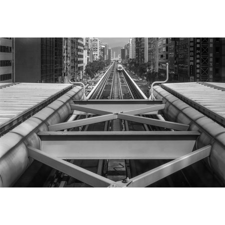 Framed Art for Your Wall Metro Subway Architecture Vanishing Point 10x13 Frame