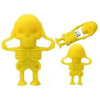 16GB USB 2.0 Flash Disk Novelty Skull Shape Pen Drive Flash Memory