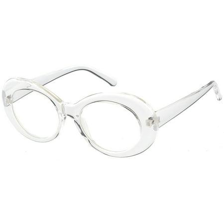3e7a57bfc7 sunglass.la - Large Clout Goggles Thick Oval Eyeglasses Clear Lens 53mm ( Black   Clear) - Walmart.com
