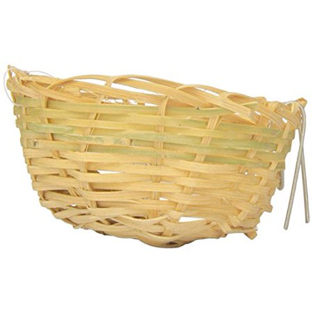 Prevue Pet Products Bpv1153 Bamboo Canary Bird Twig Nest 3-Inch (Pack of (Finch Nest)