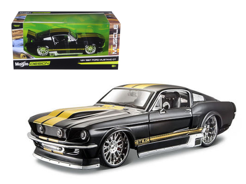 """1967 Ford Mustang GT Black Classic Muscle"""" 1 24 Diecast Model Car by Maisto"""" by Maisto"""