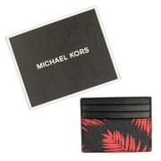 Michael Kors Men's Leather Jet Set RFID Protected Palm Print Card Case Wallet