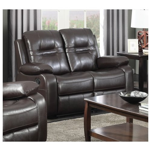 Brassex Napolean Leather Reclining Loveseat by