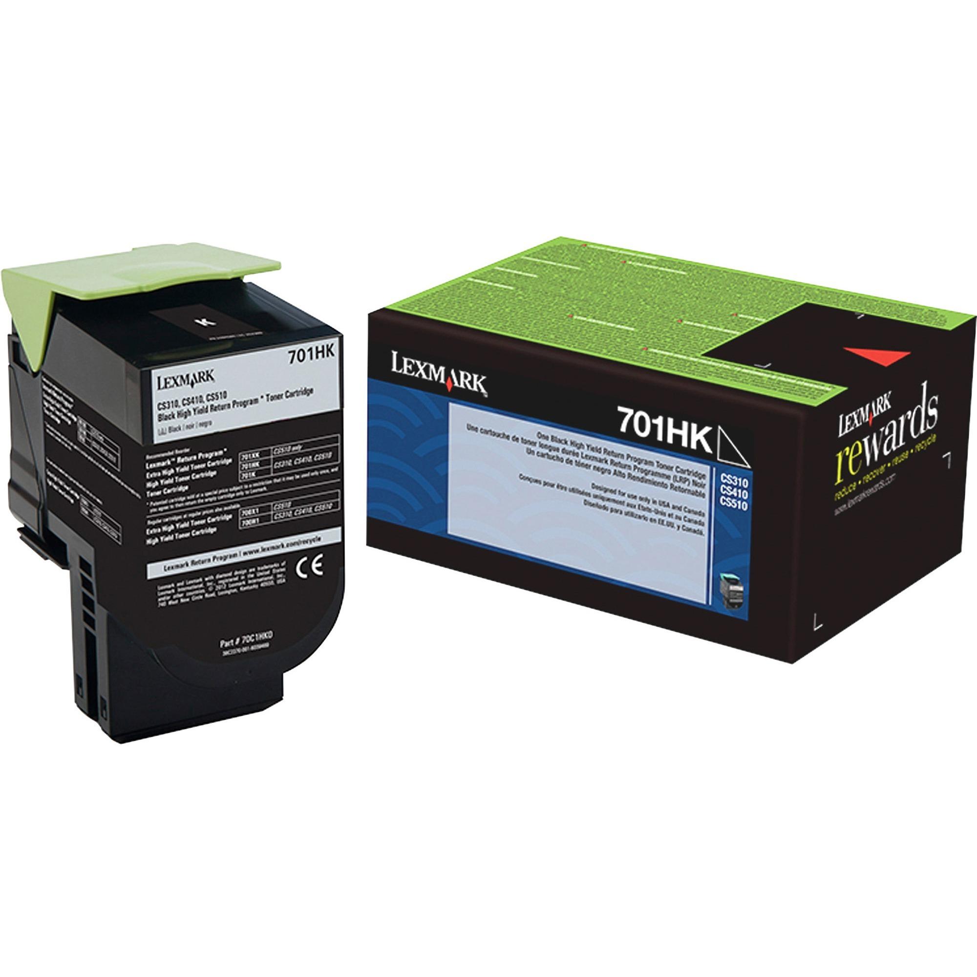Lexmark, LEX70C1HK0, 70C1H Toner Cartridge, 1 Each