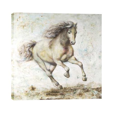 Hobbitholeco. Running Horse by Anastasia C. Painting on Wrapped Canvas