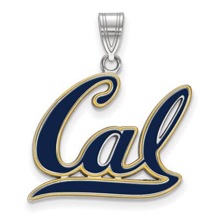 925 Silver Laser-cut University of California Berkeley Large Enameled Pendant