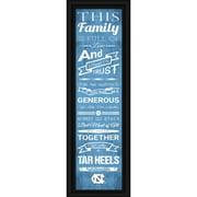 North Carolina Tar Heels Crackle Family Cheer Framed Art - No Size