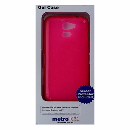 Metropcs Soft Gel Case For Huawei Premia 4G   Hot Pink