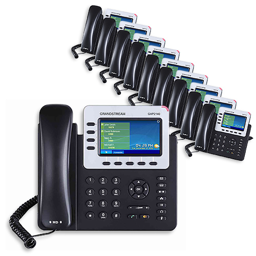 Grandstream GXP2140 10 Pack Compatible w/ Bluetooth® Enabled Cell Phones & Wireless Headsets