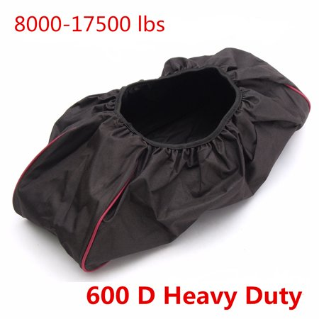 AUDEW Black Soft Winch Dust Waterproof Cover 600D Driver Recovery 8,000-17,500 lbs New