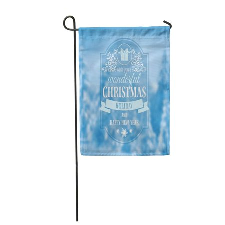 JSDART Christmas Vintage The Defocused Snow Covered Fir Trees in Forest Garden Flag Decorative Flag House Banner 12x18 inch - image 1 of 1