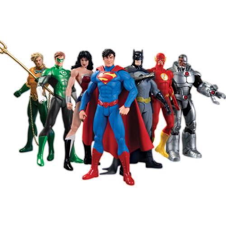 JUSTICE LEAGUE NEW 52 DC Collectibles 7 Pack Action Figure Box Set