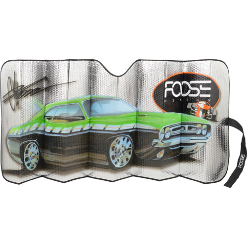 Bell Foose Standard Accordian Sun Shade, Green Muscle