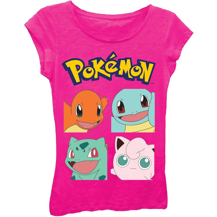 Pokemon Girls Short Sleeve Tee
