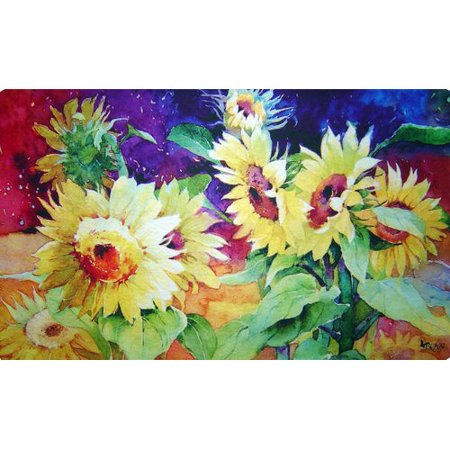 Summer Rub - Custom Printed Rugs Summer Sunflower Doormat