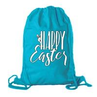 Easter Basket Backpack Bulk Cotton Drawstring Cinch Bags Easter Bunny Gift Bags - Peaking Bunny