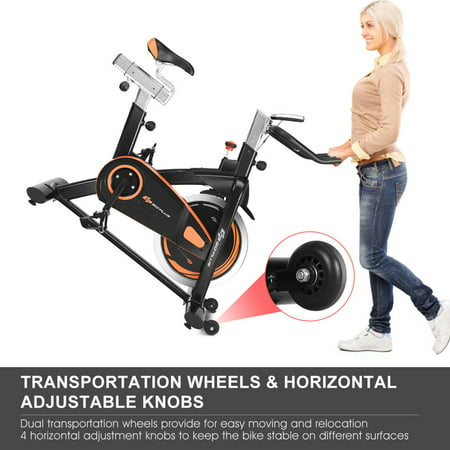 Goplus Exercise Bike Cycle Trainer Indoor Workout Cardio Fitness Bicycle Stationary - image 4 de 10