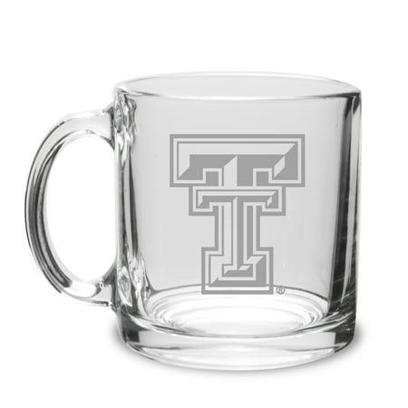 Texas Tech Red Raiders 13 oz Deep Etched Clear Glass Coffee - Texas Tech Coffee
