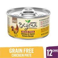 (12 Pack) Purina Beyond Grain Free, Natural Pate Wet Cat Food, Grain Free Chicken & Sweet Potato Recipe, 3 oz. Cans