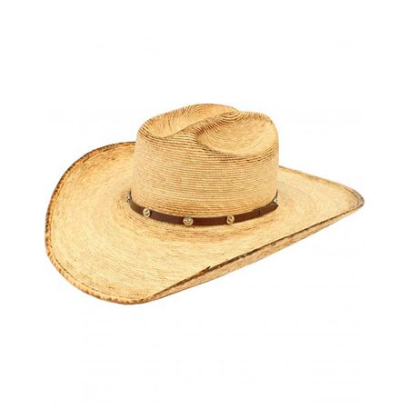 Ariat Men's Fired Palm Straw Hat Brown 6 3/4