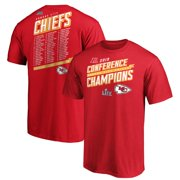 Kansas City Chiefs NFL Pro Line by Fanatics Branded 2019 AFC Champions Extra Point Roster T-Shirt - Red