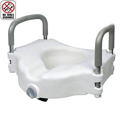 jcmaster elevated raised toilet seat with removable padde...