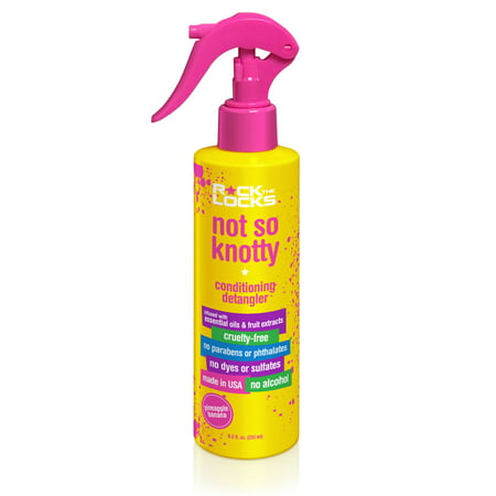 Rock the Locks Not So Knotty Conditioning Detangler, Pineapple Banana, 8.5 Oz