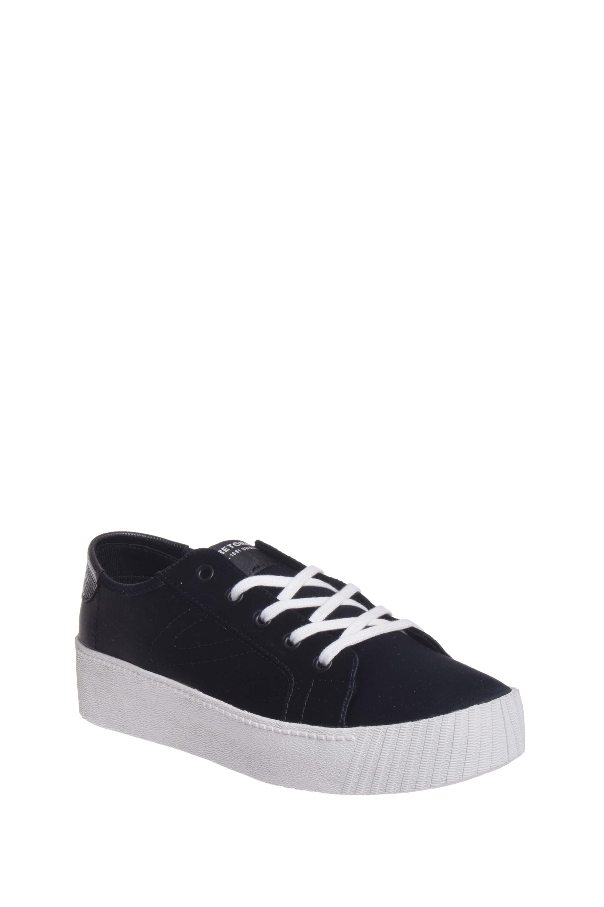 Tretorn W Blaire 7 Platform Sneaker Black Satin by
