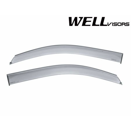 WellVisors Extreme Online Store Replacement for 2014-Present Chevrolet Silverado Extended Cab (Front Side ONLY) Premium Series Side Rain Guard Window Visors Deflectors Chevy