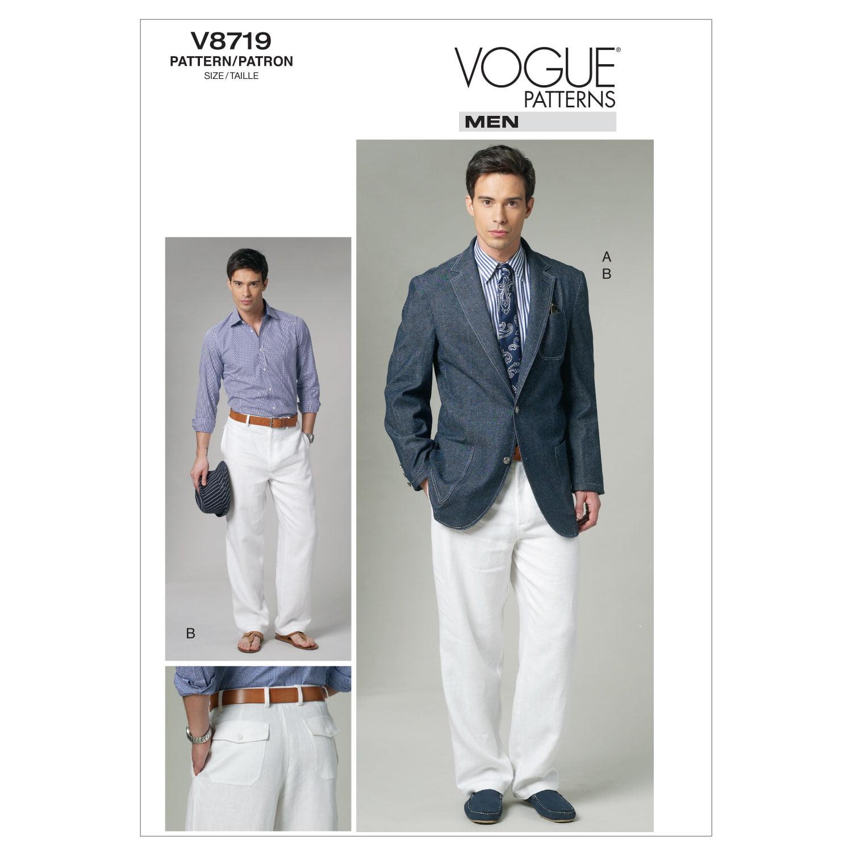 Men\'S Jacket and Pants-MUU (34-36-38-40) -*SEWING PATTERN*
