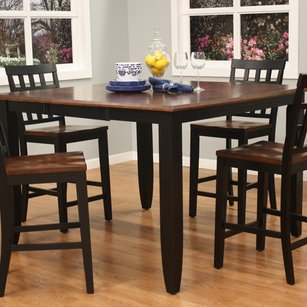 Merveilleux American Heritage Rosetta 54 Inch Two Tone Butterfly Counter Height Dining  Table