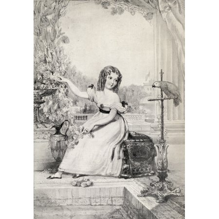 The Princess Victoria 1819 1901 At The Age Of Eleven Years Drawn From Real Life At Kensington Palace By John Hayter From The Book Vri Her Life And Empire By The Marquis Of Lorne Kt Now His Grace The D