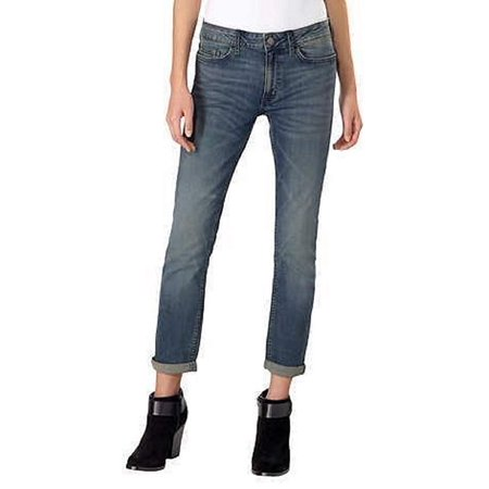 Calvin Klein Womens Jeans Slim Boyfriend Rolled Cuff Classic Fit, Tony Blue Calvin Klien Jeans