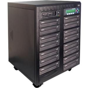 Kanguru 15 Target, 24x Daisy Chain DVD Duplicator Standalone DVD-Writer 24x DVD+R, 24x DVD-R, 12x DVD+R, 12x... by Kanguru
