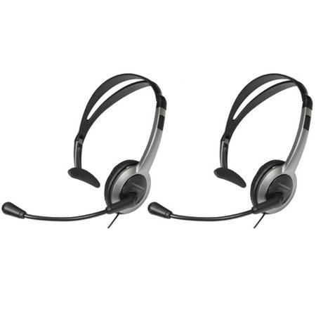 Panasonic KX-TCA430 (2-Pack) Panasonic Foldable Over the Head Headset Panasonic Hands Free Corded Headset