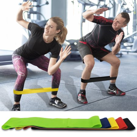 Exercise Resistance Loop Bands for Booty Building for Strength Training and Physical Therapy - Fitness Loops for Hips and Leg - Set of 5 - Natural