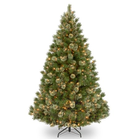 National Tree Pre-Lit 7-1/2 Wispy Willow Grande Medium Hinged Artificial Christmas Tree with 750 Clear Lights