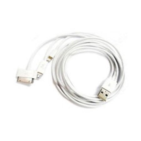 1m Long 3-in-1 USB Multi-Charger Cable for Smartphones Mobile