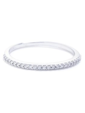 8100d0ec8 Product Image Sterling Silver CZ Half Pave Band Ring