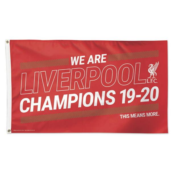 Liverpool FC 2019-20 Champions 5 X 3 Flag