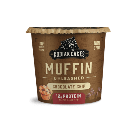 Kodiak Cakes Muffin Unleashed, Chocolate Chip Muffin in a Cup, 2.36 Oz