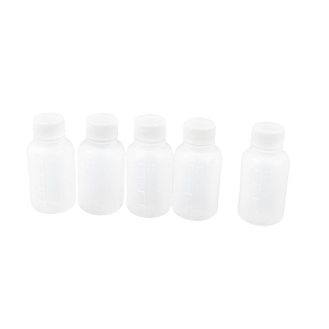 5 Pcs 20ML White Mini Travel Empty Plastic Alcohol Liquor Bottle by