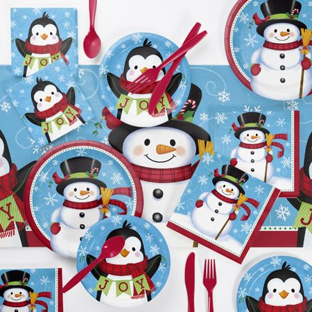 The Holiday Aisle Holton Snowman 73 Piece Party Supplies - Holiday Supplies