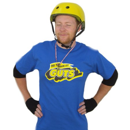 Guts Blue Team T-Shirt Global Costume Do You Have It 90's Nickelodeon TV](Nickelodeon Guts)
