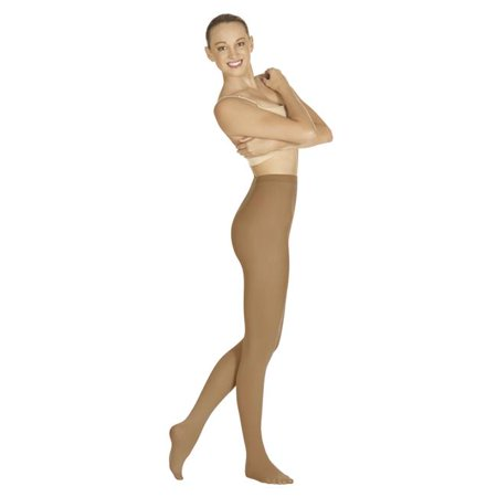 215-C-L-XL Intimates Adult Non-Run Footed Tights, Caramel - Large & Extra Large Extra Large Caramel